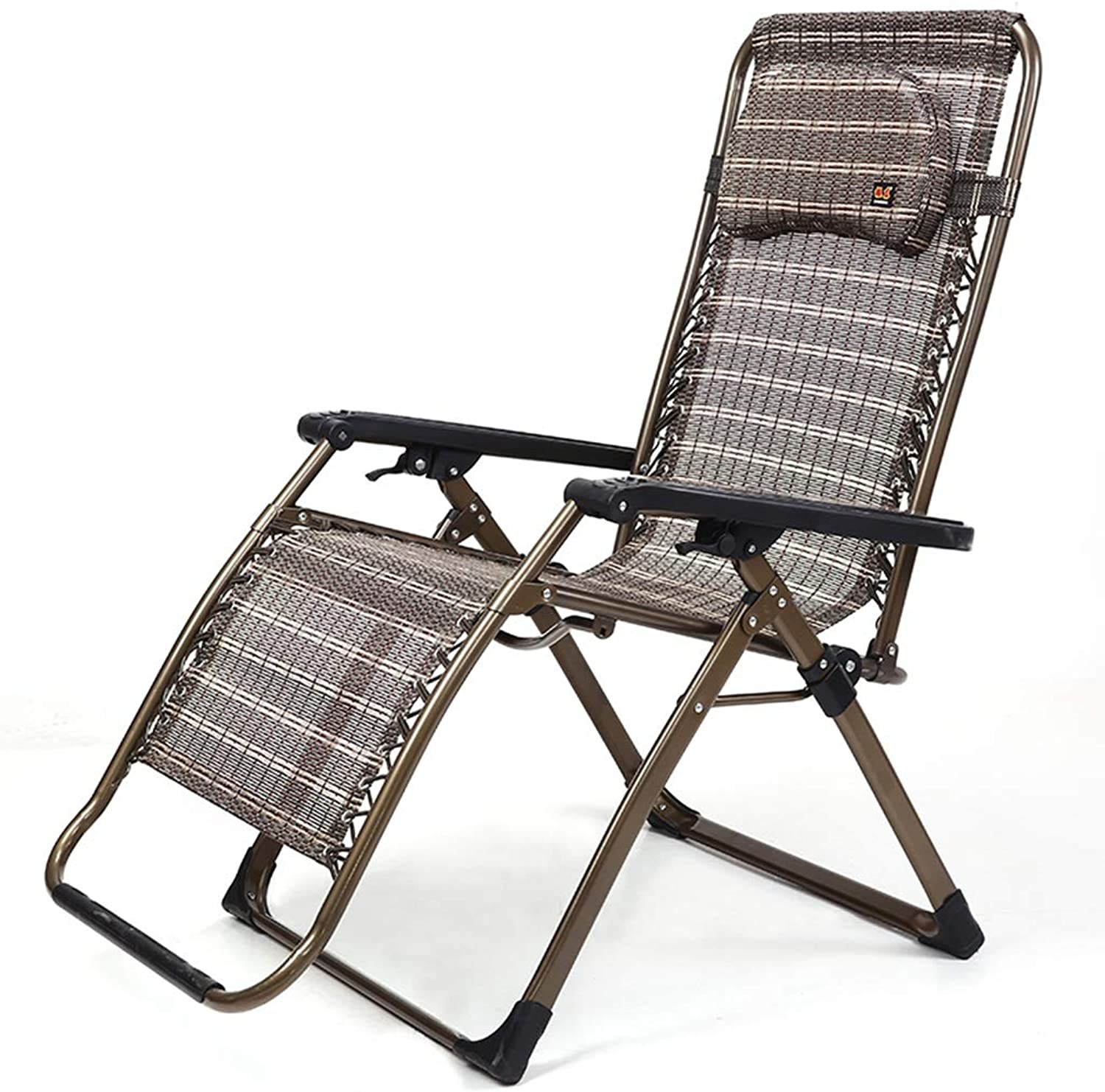 Outdoor Widen Folding Chairs with Footrest, Camping Travel Patio Reclining Chair, Textilene Fabrics, Load 210kg