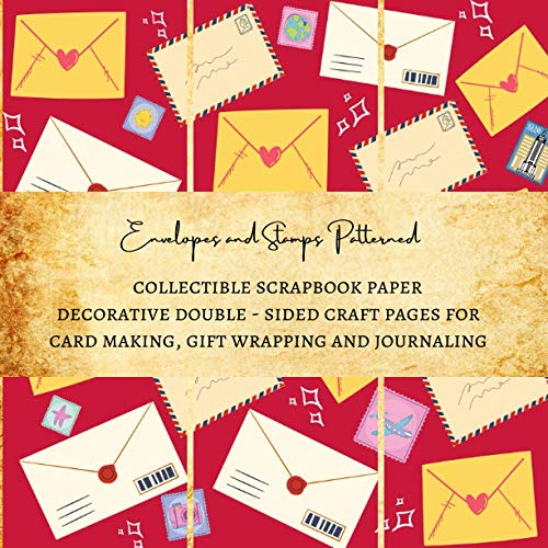 Envelopes and Stamps Patterned Collectible Scrapbook Paper | Decorative Double - Sided Craft Pages for Card Making, Gift Wrapping and Journaling: Premium Scrapbooking Sheets