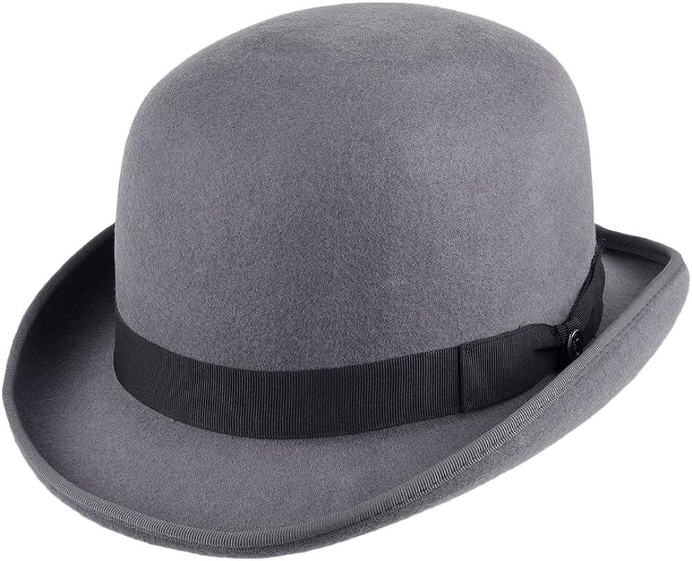 Steampunk Hats for Men | Top Hat, Bowler, Masks Jaxon & James Wool Felt English Bowler Hat - Black £42.95 AT vintagedancer.com