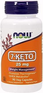 NOW Supplements, 7-Keto 25 mg, 90 Veg Capsules