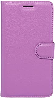 MEI1JIA For Huawei Enjoy 6s Litchi Texture Horizontal Flip Leather Case with Holder & Card Slots & Wallet (Black) (Color : Purple)