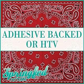Red BANDANA Pattern Heat Transfer or Adhesive Vinyl CHOOSE YOUR SIZE! Bandanna