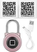 BTIHCEUOT Candado con Huella Digital, reconocimiento antirrobo Smart Biometric Touch Lock Bluetooth App Control para Maleta de Equipaje(Rosado)