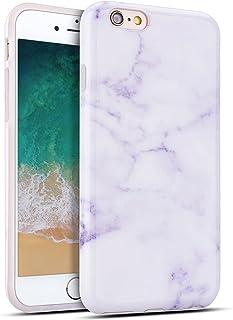 09770684d01 MoEvn Funda iPhone 6S Plus / 6 Plus, Mármol Suave TPU Silicona Carcasa  Flexible Goma Gel Protectora Case Fina Protector Bumper Tapa Anti Rasguños  Cubierta ...