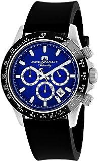 ساعة اوشينت باريتز للرجال من ستانلس ستيل كوارتز مع حزام مطاطي، لون أسود، 22 (OC6113R)