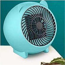 QWET - Calefactor portátil para oficina en casa, radiador eléctrico, radiador de cerámica con modos de calefacción, 500 W, color azul