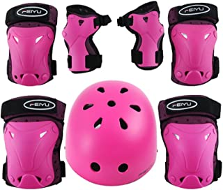 Weanas Helmets for 8-14 Years Kids Youth Adjustable Sports Protective Gear Set, Cycling Skating Safety Pad Safeguard (Helmet Knee Elbow Wrist Pads)