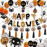 Halloween Ballon Dekoration Set, Halloween Luftballons Deko,enthalten Kürbis, Geist, Spinne, Hexe,...