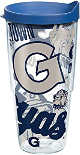 Tervis Georgetown Hoyas All Over Tumbler with Wrap and Blue Lid 24oz, Clear