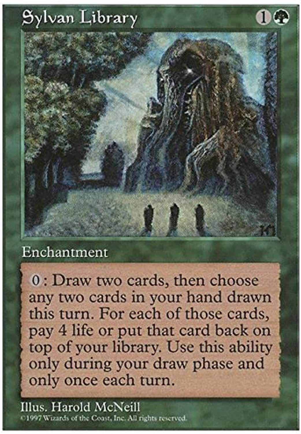 Magic The Gathering  Sylvan Library  Silvestre Library  Fifth Edition