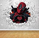 Chicbanners Deadpool Wandbild/Wandbild, selbstklebend, Vinyl, 2 m hoch x 2,7 m breit