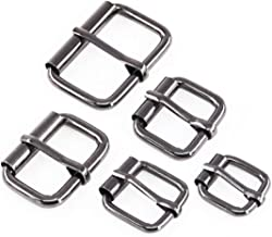 Swpeet 50 Pcs Assorted Multi-Purpose Gun Black Metal Roller Buckle Ring for Hardware Belt Bags Ring Hand DIY Accessories -13mm,15mm, 20mm, 25mm, 32mm
