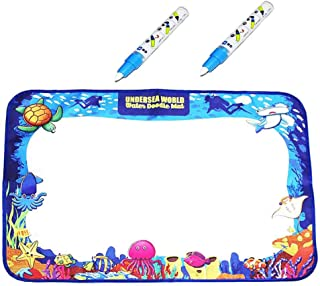 Autbye Drawing Magic Mat 2019 Enhanced Water Doodle Mat Extra Large Kids Educational Learning Toy Gift for Boys Girls Toddlers Age 2 3 4 5 Year Old Toddler Toys Painting Board Writing Mats (Type2)