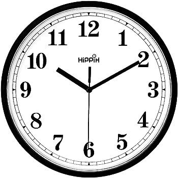 Foraineam 12 Inch Classic Clock Silent Non Ticking Accurate Sweep Movement Decorative Quartz Wall Clock