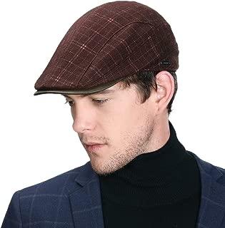 Fancet Mens Winter Ivy Newsboy Flat Hunting Gatsby Hat Fall 55-60cm