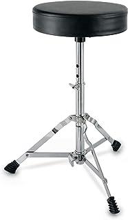 XDrum 6432 Schlagzeughocker Semi (Höhenverstellbar 50-64cm, drei Standbeine mit Gummifüßen, zusammenklappbar)