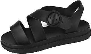 Sandali da donna Platform Summer Gladiator Beach Shoes Calzature in PVC Out Wear Sandali da spiaggia traspiranti con fibbi...