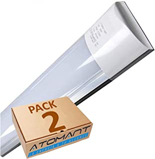 Pack 2X Lampara Luminaria 120cm. 40w. Color Blanco Frio (650