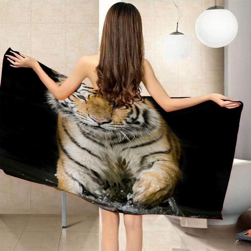 ZCLCHQ Beach Philadelphia Mall Towel Quick Drying Microfibre E 3D Animals Tigers favorite