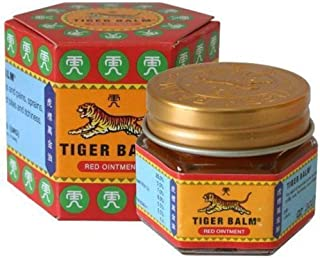 2xTiger Balm Red Extra strength Herbal Rub Muscles Headache Pain Relief Ointment Big Jar,(Red2x30g+Bag)