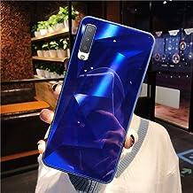 URFEDA Compatibel met Samsung Galaxy A7 2018/A750 Telefoongeval Diamond Glitter Case met Spiegeleffect Bling TPU Siliconen...