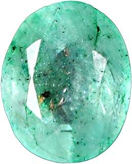 GEMHUB Esmeralda verde natural de 2,50 quilates, forma ovalada facetada, corte brillante, piedra preciosa suelta para hace...