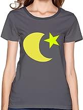 SNOWANG Women's Moon & Star T-Shirt