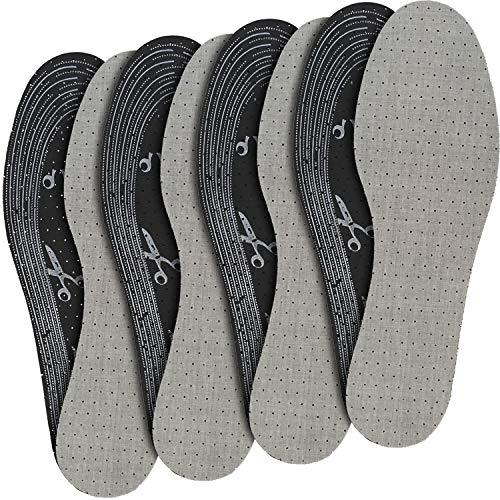 jaQob Solette scarpe, piedi traspiranti con carbone attivo e leggera profumazione - Soletta scarpe piedi traspiranti, suole scarpe, plantari antisudore, solette per scarpe 4 paia