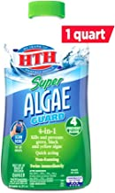 HTH 67032 Super Algae Guard Swimming Pool Algaecide Cleanser, 1 qt