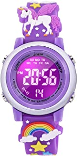 Sponsored Ad - VAPCUFF 3D Cartoon Waterproof Watches for Girls with Alarm - Best Toys Gifts for Girls Age 3-10