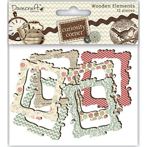Dovecraft Curiosity Corner - Marcos de madera, 12 unidades