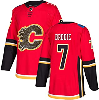 Reebok Men's TJBrodie #7 Red Calgary Flames Limited Stitch Jersey