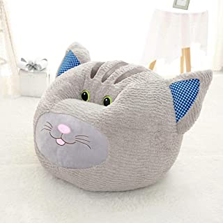 sofa Cute Cartoon Puppy Round Kids Chair Soft Plush Toddler Armchair Lazy Toddler Furniture for Living Room Bedroom gray