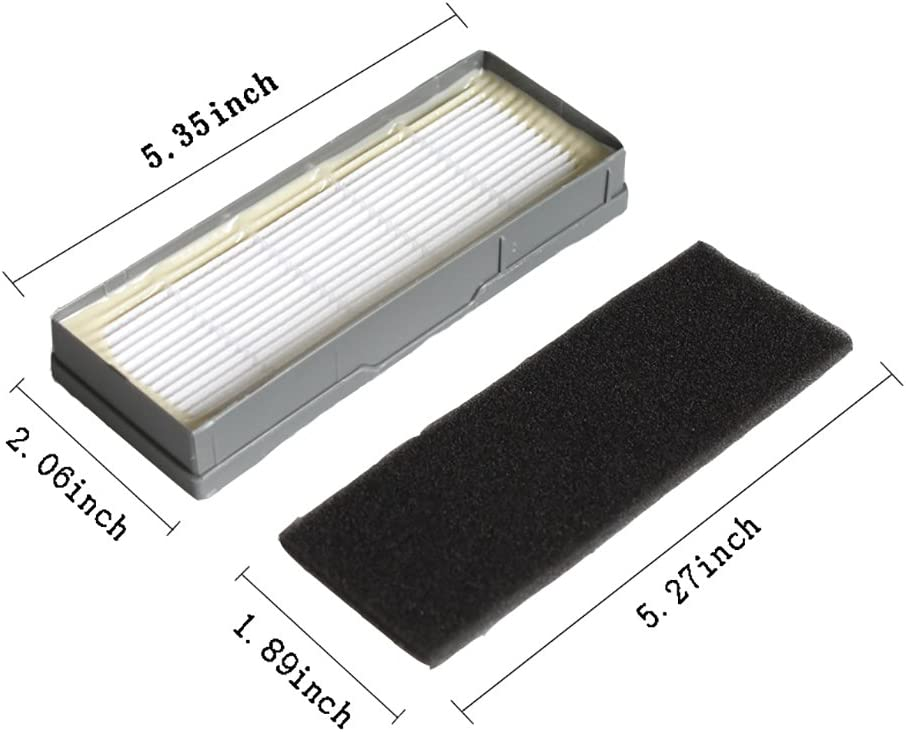 GIBTOOL Filters Brushes for Ecovacs Deebot N79 N79s DN622 500 N79w N79se Vacuum Cleaner Replacement Part