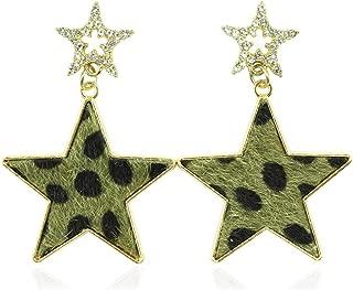 cheetah print stud earrings
