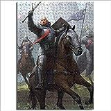 Ensamblar rompecabezas cerebro inteligencia desafío The Witcher Card Game King Power Lost Warrior Duel Bear Horror Demon 1000 piezas rompecabezas de madera