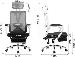 Silla de Oficina ergonómica Silla giratoria de Escritorio Silla sillas de Ordenador, Tras el Apoyo de Mentira 150 °, 360 ° Rotación Silla de Rodillas