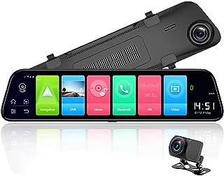 Elikliv 12 Rearview mirror 4G Android 8.1 dash camera 2G RAM 32G ROM GPS Navigation car video recorder ADAS WiFi night vision