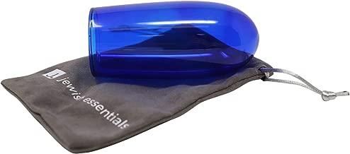 Jewish Essentials Wedding Chuppah Breaking Glass (Dark Blue) - with Velvet Bag