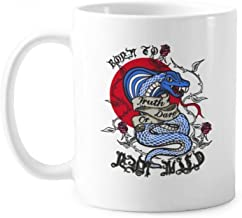 Animal Bite Snake Combination Pattern Classic Mug White Pottery Ceramic Cup With Handle 350ml Gift