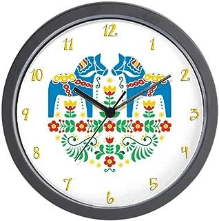 CafePress-Swedish Dala Horse-Wall Clock