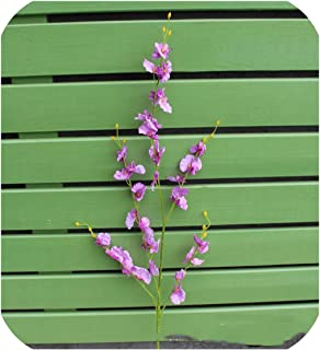Artificial Orchid Flowers 5 Branch Silk Oncidium Hybridum Dancing-Doll Orchid for Home Wedding Garden Decor A1050,A09-5
