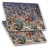Impresionantes pegatinas rectangulares (juego de 2) 7,5 cm – Bogotá Colombia City Paisaje Ciudad de Colombia calcomanías divertidas para portátiles, tabletas, equipaje, libros de chatarra, frigorífico, regalo genial #21271