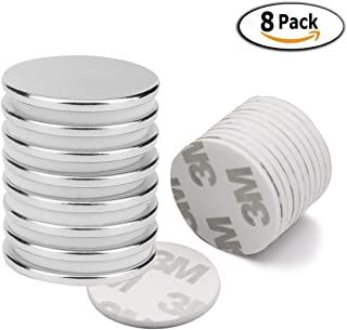 Juego de 8 imanes de neodimio, Imanes fuertes adhesivos con cinta adhesiva de 3M, Imanes autoadhesivos con película adhesiva, fuerza adhesiva extra, 10 adhesivos