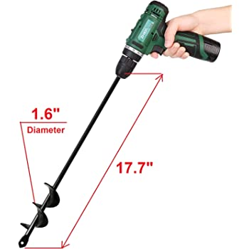 Power Planter 100/% USA Made 3x24 Extended Length Bulb /& Bedding Plant Auger w// 3//8 Hex Drive