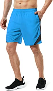 TSLA Men's Active Running Shorts, 7 Inch Basketball Gym Training Workout Shorts, Quick Dry Athletic Shorts with Pockets