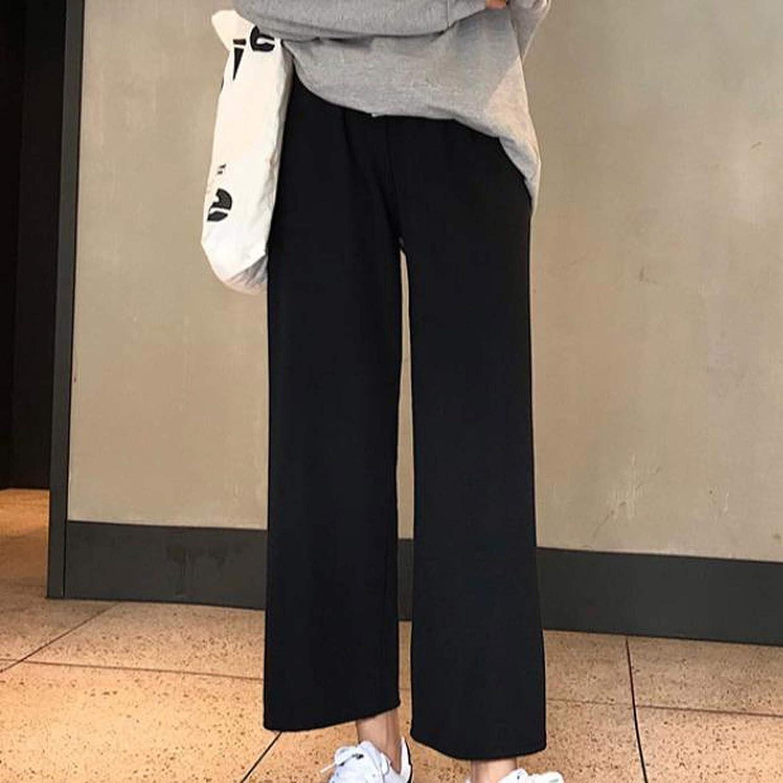 Little Story Women Pants Summer, Women Casual Solid Loose High Waist Ladies Wide Leg Pants Long Pants Pants Work Casual