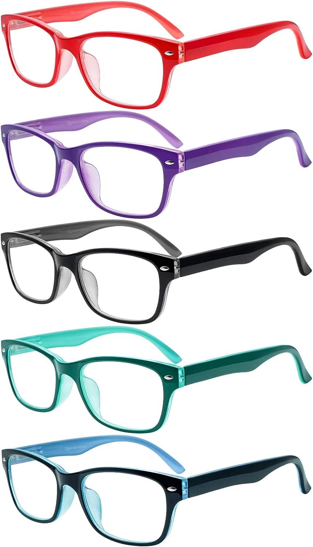 SIGVAN Reading Glasses 5 Packs Blue Blocking All items in the store Eyeglasses Light Popular Qu