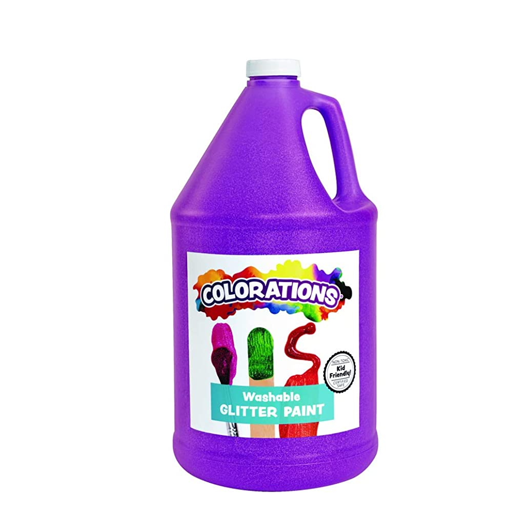 Colorations GPGPU Washable Glitter Paint, Purple - 1 gal