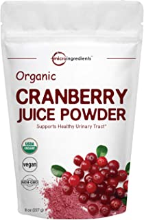 Sponsored Ad - Sustainably US Grown, Organic Cranberry Juice Powder (Cranberry Supplements), 8 Ounce, Enhance Urinary Trac...
